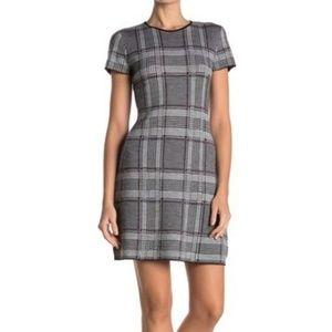 NWT Theory Branteen JQ Knit Dress - Cabernet Combo